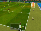Taking a corner kick in Super Arcade Soccer