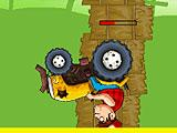 Crazy Hard Stunt and Fall in Crazy Racers