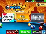 Main Hub Area of 8 Ball Pool
