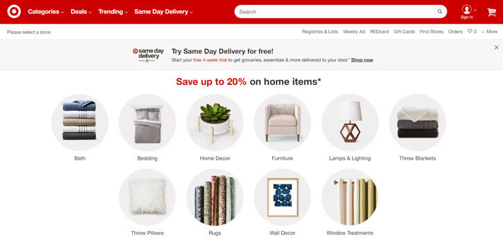 Save Up to 20% on Home Items at Target!