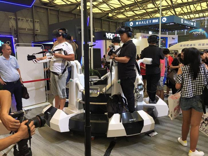 One of the oddest VR-compatible contraptions at ChinaJoy 2016