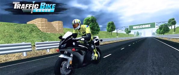 VR Traffic Bike Racer - Race your bike through beautiful landscapes while avoiding traffic in this challenging motor racing game, VR Traffic Bike Racer!