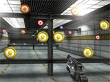 Shooting ceramic plates indoors in Shooting Showdown 2