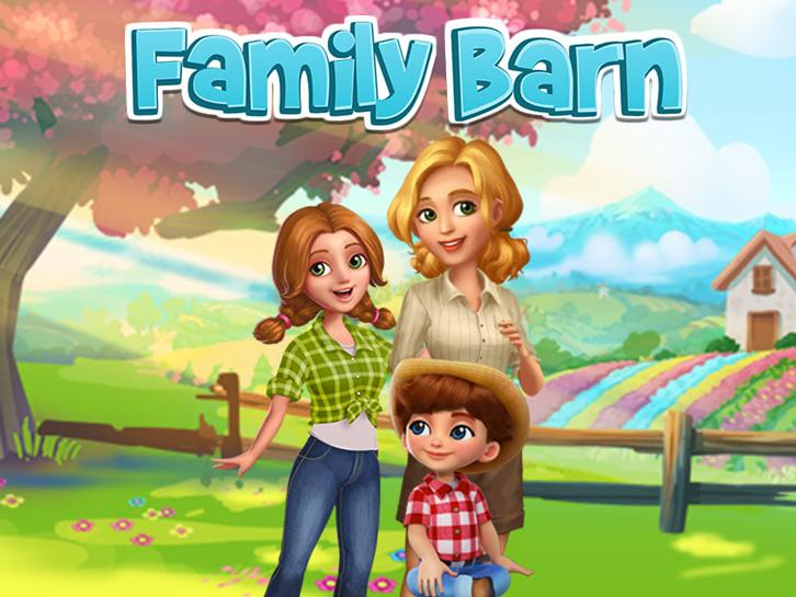 Supermom Returning Home in Family Barn