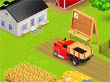 Hayride setting up a farm