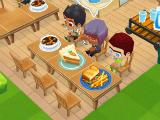 Customers eating food in Restaurant Story 2