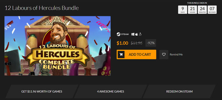 Fanatical's 12 Labours of Hercules Complete Bundle