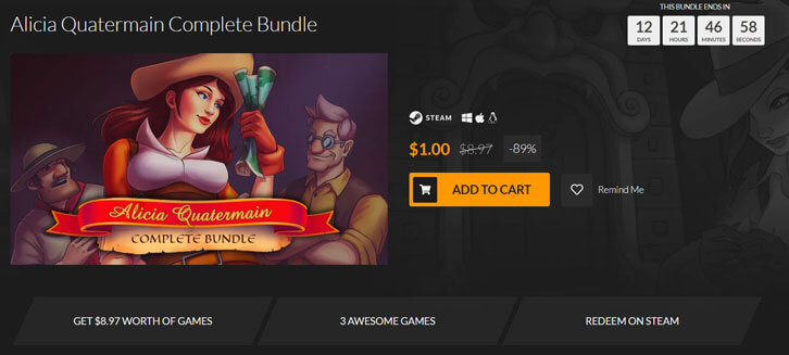 Fanatical's Alicia Quatermain Complete Bundle