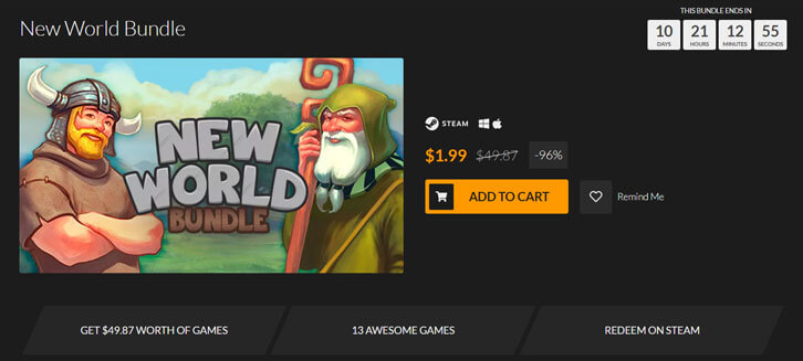 Fanatical's New World Bundle