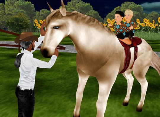 Riding a horse in IMVU
