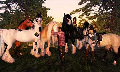 Preparing to Ride in Second Life