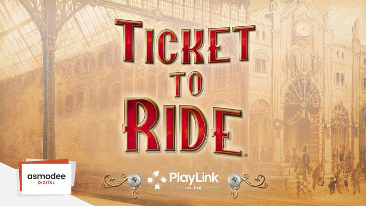 Asmodee Digital Releases Ticket to Ride on PlayLink for PS4