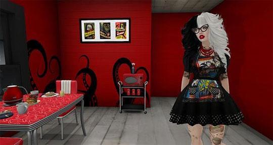 A Retro Kitchen in Second Life