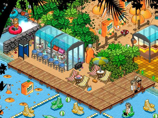Enjoy a stunning pool in Habbo Hotel