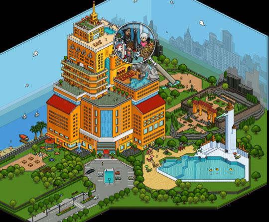 Huge Creation in Habbo Hotel