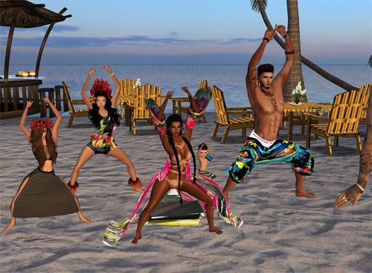 Beach Party in IMVU