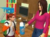 Interact with Characters Virtual Mom: Happy Family 3D