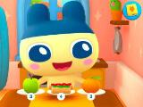 Tamagotchi eating a full meal in My Tamagotchi Forever