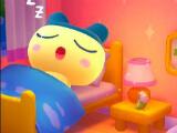 A sleeping tamagotchi in My Tamagotchi Forever
