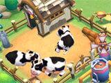 Townkins: Wonderland Village feeding cows