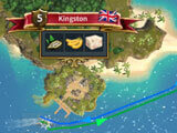 Trading route in Admirals: Caribbean Empires