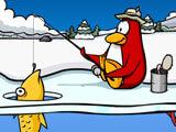 Playing Ice Fishing, the mini-game