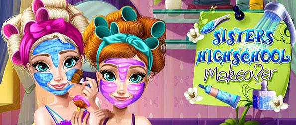Sisters Highschool Makeover - Help give the two sisters their much needed facial treatment and pampering in this an awesome casual dress-up game inspired by the hit-movie Frozen.