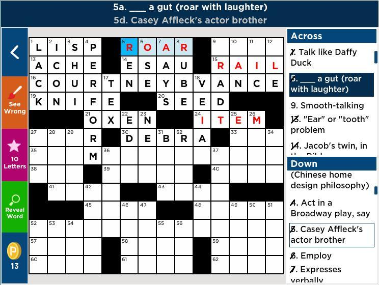 Crosswords with Friends Crossword Clues Answers