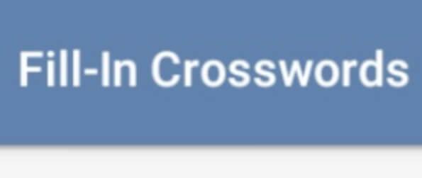 Fill-In Crosswords - Fill in the crossword puzzle with the correct words in Fill-In Crosswords!