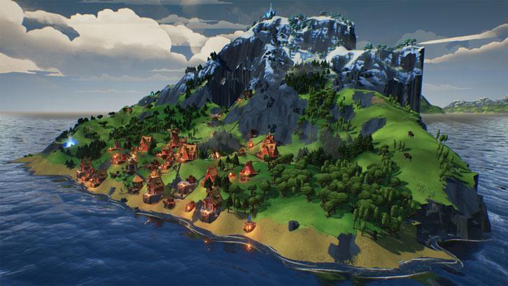 A beautiful and unique village-building game, Valhalla Hills
