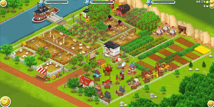 A beautiful and efficient farm in Hay Day