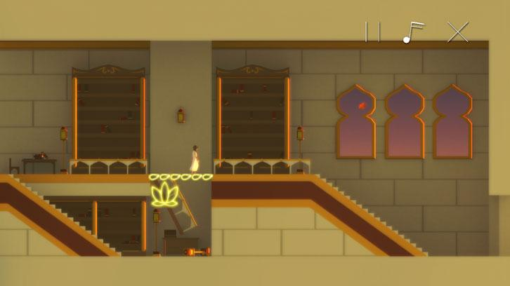 Using the game's UI to solve puzzles in Uri: The Sprout of Lotus Creek