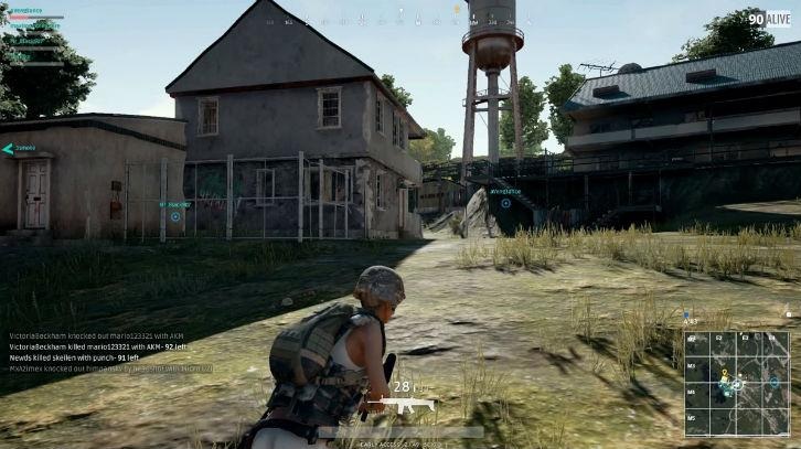 Running around an abandoned residential area in PUBG