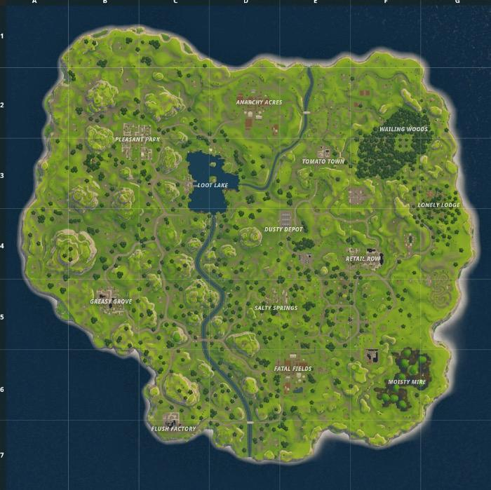 Old Fortnite Map