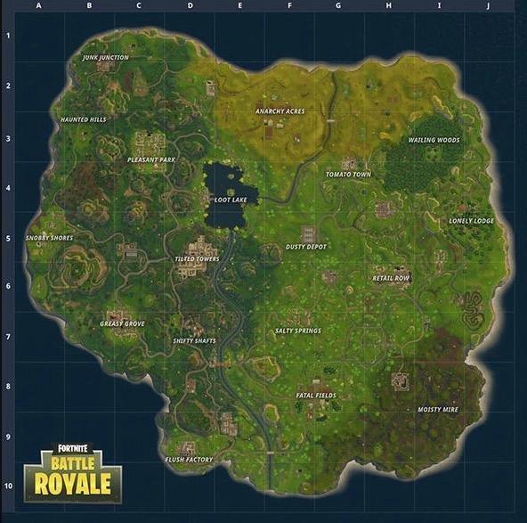 New Fortnite Battle Royale Map