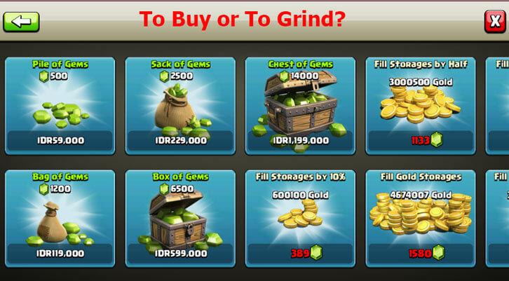 Buy or Grind in Freemium Games