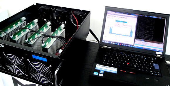 CryptoMiner GPU card array