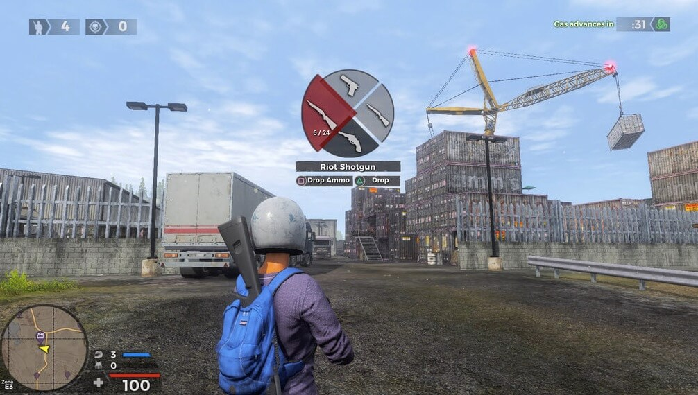 Switching weapons in H1Z1
