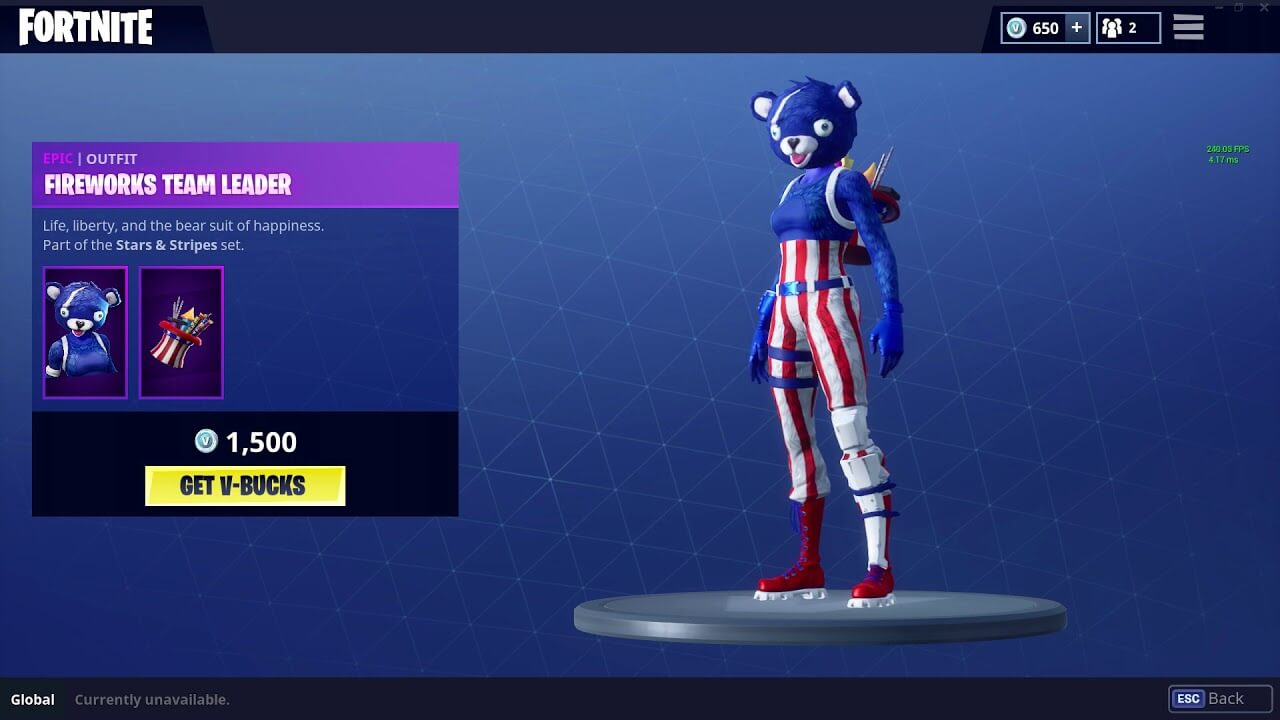Fireworks team leader Fortnite