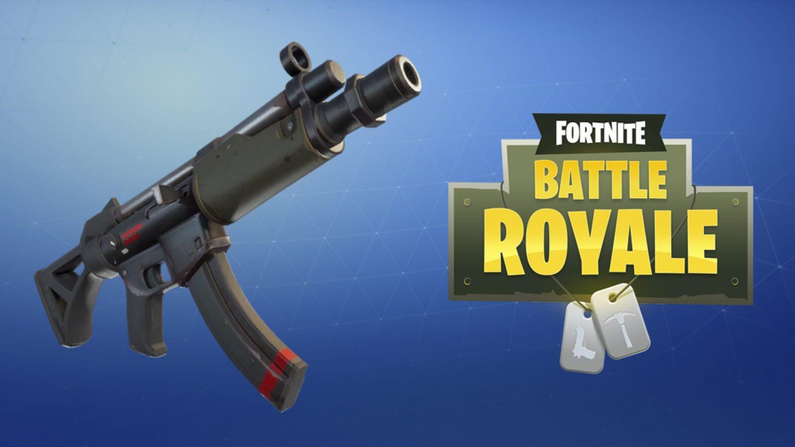 The new submachine gun in Fortnite