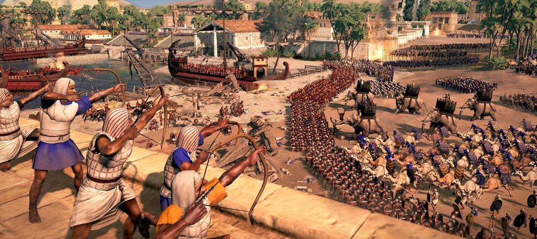 Imagine a battle royale game set in the ancient world.