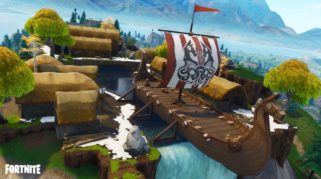 Viking ship in Fortnite