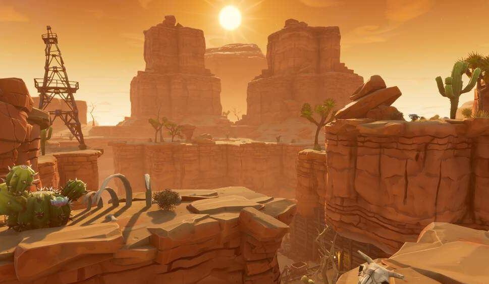 Desert biome in Fortnite