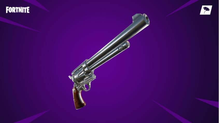 The new six-shooter gun in Fortnite