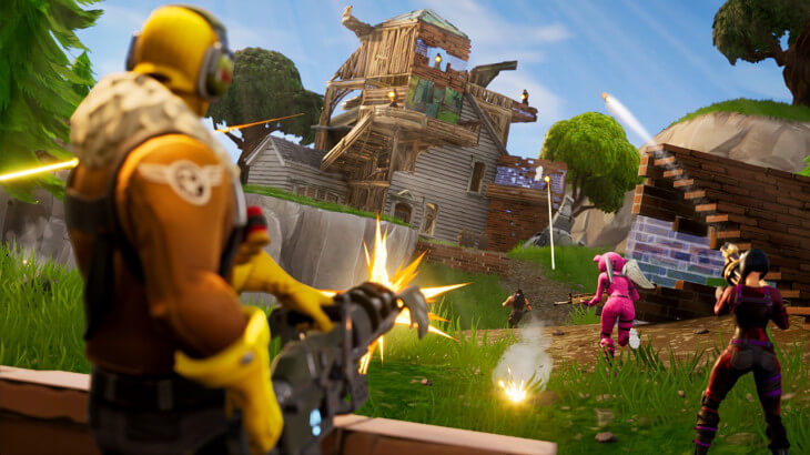 You can go up against players across all platforms in Fortnite