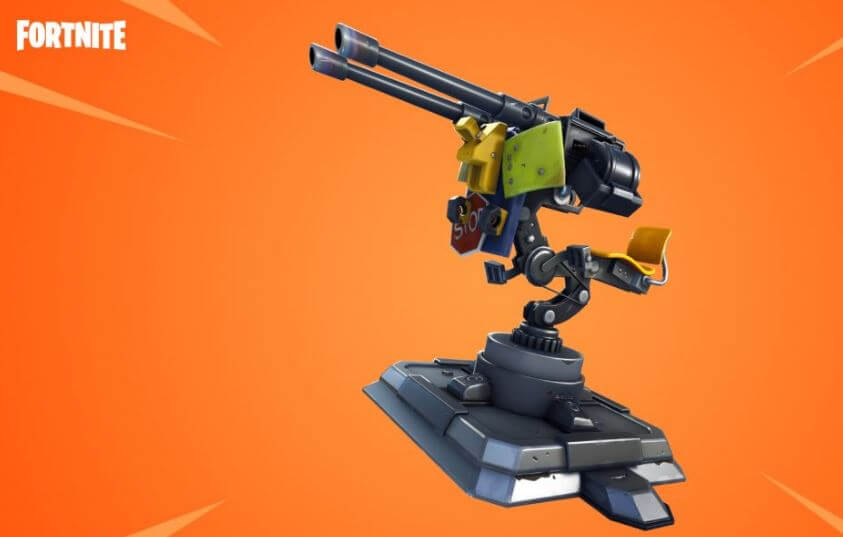 The mounted turret is a new and outstanding addition to Fortnite