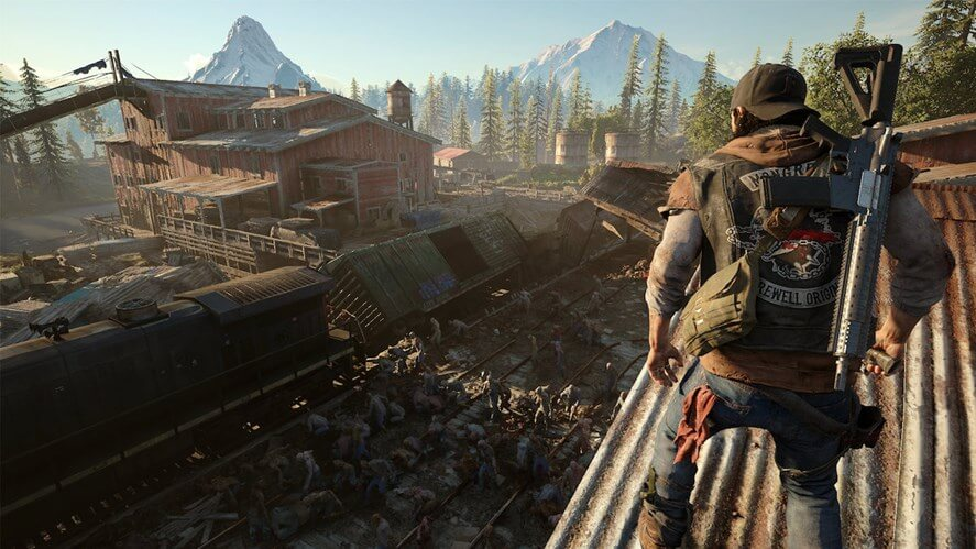 Facing a Freaker horde in Days Gone
