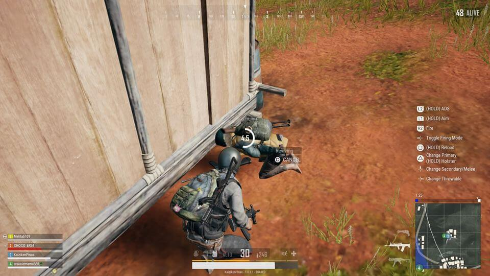 Revive fallen teammates and share your loot