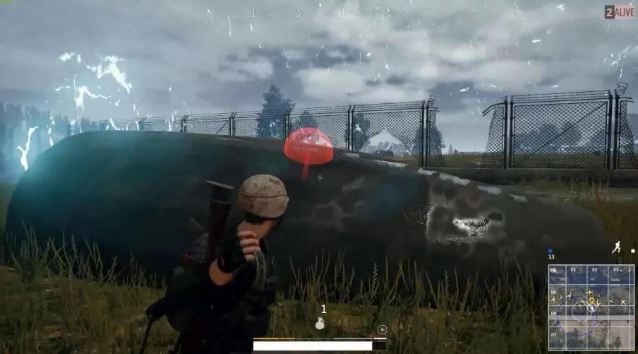 Throwing grenades PUBG