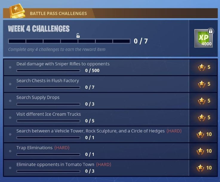 Quests in Fortnite